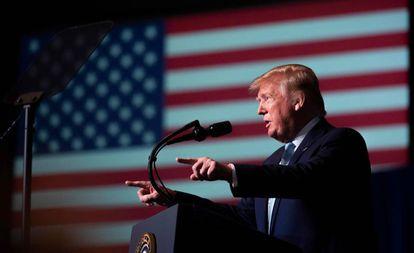 Donald Trump durante evento em Miami, na Flórida.