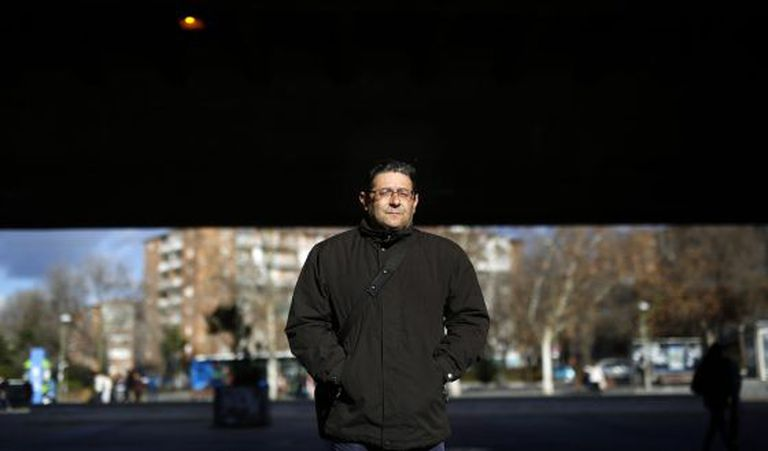 Manuel Martín, desempregado, que engrossa o auditório de programas.