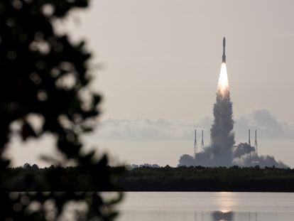 Veículo 'Perseverance' é lançado da estação do cabo Canaveral, na Flórida, nesta quinta.