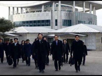 Reunião entre famílias das duas coreas.
