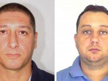 Foto facilitada pela Polícia Civil do Rio dos dois suspeitos presos: Ronnie Lessa (esquerda) e Elcio Vieira de Queiroz (direita)