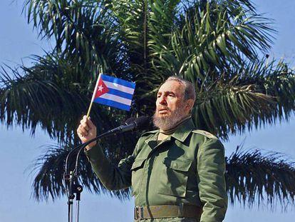 Fidel em uma imagem de 2001, em Havana.