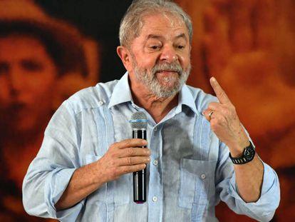 Ex-presidente Lula, nesta quinta.