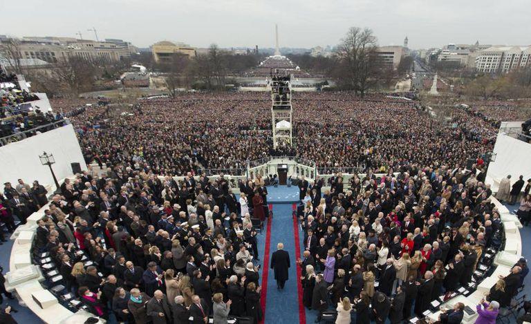 Trump, em 20 de janeiro, em sua posse.