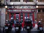 DVD 1021 Madrid 1/10/2020Reportaje sobre la reducci—n de aforo en bares por las nuevas restricciones del Covid Bodega de la ardosaFoto: Inma Flores