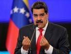 FILE PHOTO: Venezuelan President Nicolas Maduro gestures as he speaks during a news conference in Caracas, Venezuela, December 8, 2020. REUTERS/Manaure Quintero/File Photo