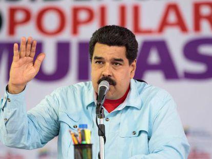 Nicolás Maduro, em um ato no último dia 15.