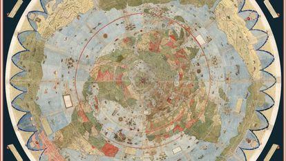 O mapa-múndi de Urbano Monte reconstruído pela Universidade de Stanford