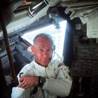 Edwin Buzz Aldrin, durante sua missão lunar