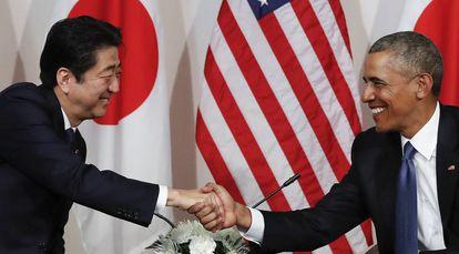 Obama e Shinzo nesta terça-feira.