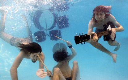 O Nirvana retratado em 1991 para a promoção do disco 'Nevermind'.