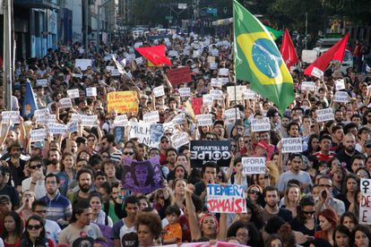 Protesto contra Temer na Paulista, nesse domigo.