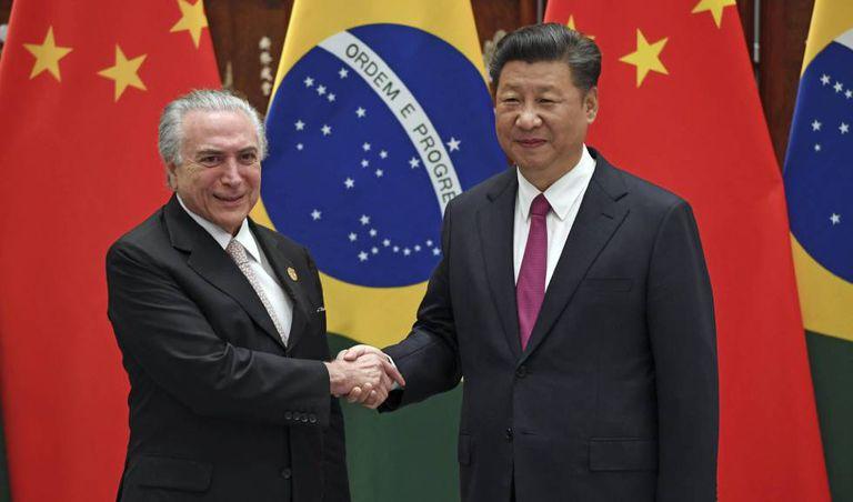 Os presidentes do Brasil e da China, Michel Temer e Xi Jinping, em Hangzhou.