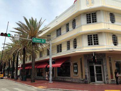Ocean Drive, uma das ruas mais badaladas de Miami.
