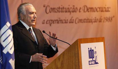 O vice-presidente Michel Temer durante evento em São Paulo.