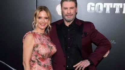 Kelly Preston e John Travolta na estreia de 'Gotti', em junho de 2018.