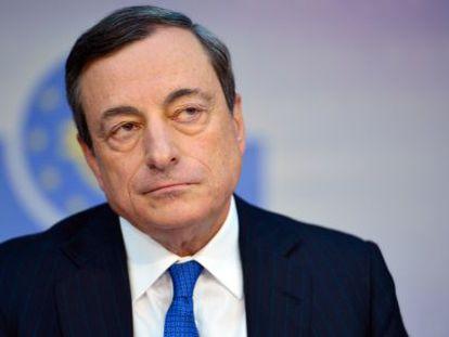 Mario Draghi, presidente do BCE, depois da reunião de junho.