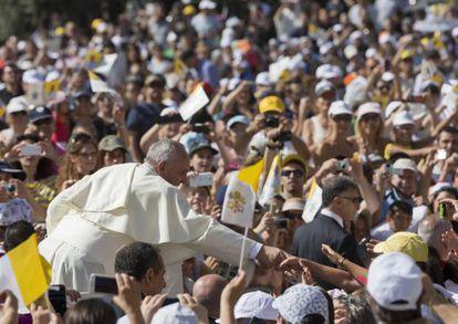 O papa Francisco, durante sua visita a Molise.