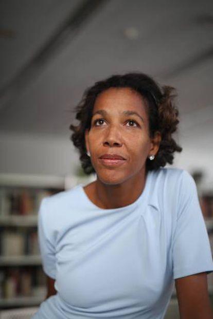 Jennifer Teege, no Instituto Goethe de Madri.