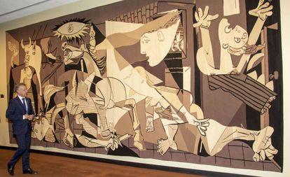 A obra 'Guernica', no museu Reina Sofía, em Madri