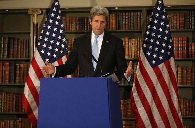John Kerry, na sexta-feira, depois de se reunir com a diplomacia russa.