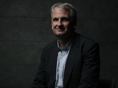 O historiador norte-americano Timothy Snyder, em Madri em 2018.
