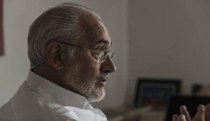 Carlos Mesa, durante a entrevista ao EL PAÍS.