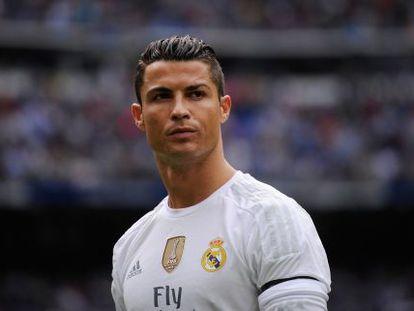 Cristiano Ronaldo durante partida do Real Madrid.