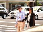 NEW YORK, NY - SEPTEMBER 17:  (Exclusive Coverage)  Woody Allen and Soon-Yi Previn seen on the streets of Manhattan on September 17, 2016 in New York City.  (Photo by James Devaney/GC Images)