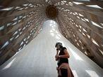 Barcelona, 16/09/2020. Jornada de puertas abiertas de la Sagrada Familia. Visita al interior de la torre Virgen Maria. (Mare de Deu).  (Foto: JUAN BARBOSA)