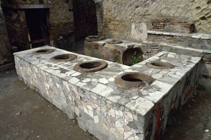 Termopólio em Pompeia.