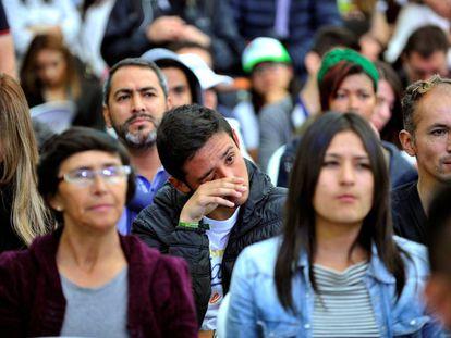 A decepção entre os seguidores de Sergio Fajardo pelos resultados eleitorais.