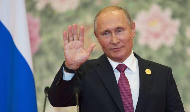 O presidente russo, Vladimir Putin, durante uma entrevista coletiva na China, no domingo passado.