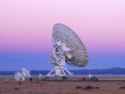 As antenas do Very Large Array (VLA), nos EUA.