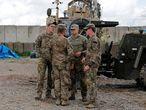 Militares estadounidenses en Nínive (Irak), en marzo.