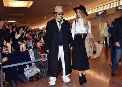 Johnny Depp e Amber Heard em 2015.