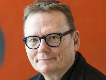 O economista e cientista político britânico James A. Robinson, fotografado na Universidade de Chicago em fevereiro de 2018.