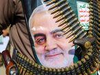 Apoyo al general Soleimani en Yemen, este lunes.