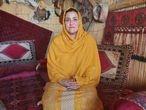 Fereshta Amini, exdiputada por Nimruz, durante la entrevista de hoy jueves en la casa en la que se esconde.