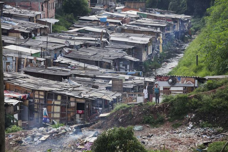 Favela no Jardim Peri Alto, em foto de 2012.