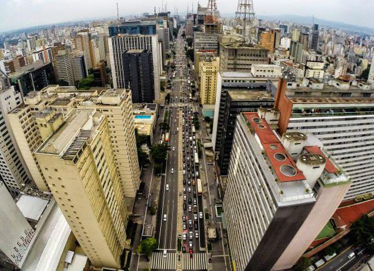 Avenida Paulista em São Paulo.