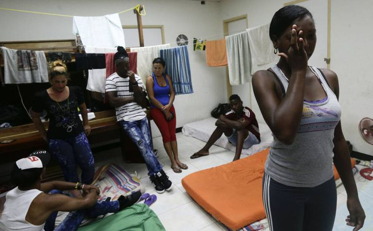 Imigrantes cubanos na Cidade de Panamá.