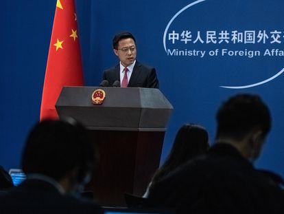 O porta-voz do Ministério das Relações Exteriores da China, Zhao Lijian, em uma foto de arquivo.
