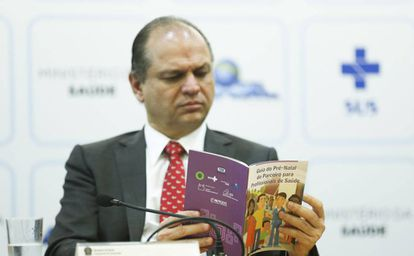 O ministro Ricardo Barros, em evento do SUS nesta quinta.