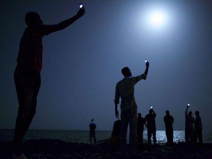 A fotografia do norte-americano John Stanmeyer, ganhadora do World Press Photo.