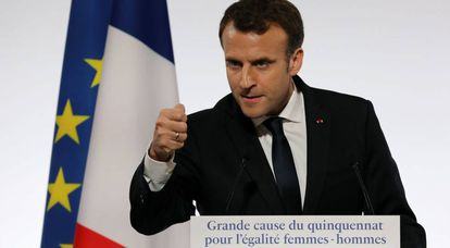 O presidente francês apresenta seu plano contra o assédio.