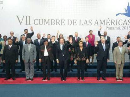Foto conjunta da Cúpula das Américas.