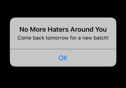 O drama das primeiras horas no Hater: não encontrar ninguém ao seu redor para compartilhar ódios.