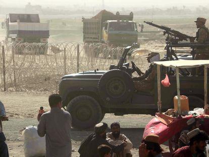 A fronteira entre o Paquistão e o Afeganistão, fechada depois que o grupo islâmico Talibã assumiu o controle no lado afegão, em 9 de agosto.