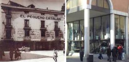 Fachada da loja O pequeno catalão, antes e agora.